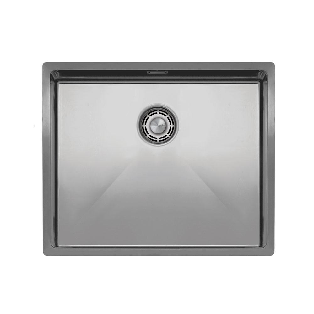 Nerjaveče Jeklo Kuhinjska Umivalnik - Nivito CU-500-B Brushed Steel Strainer ∕ Waste Kit Color