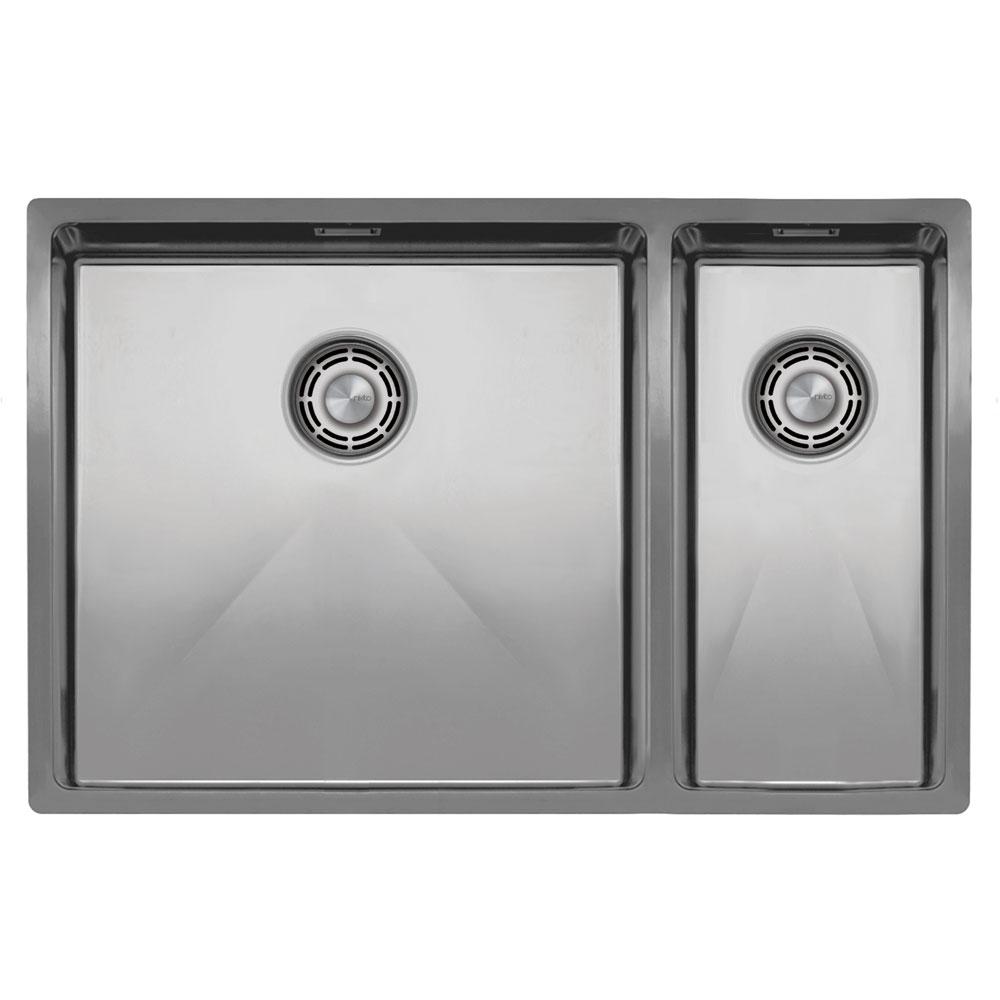Nerjaveče Jeklo Kuhinjska Umivalnik Za Obraz - Nivito CU-500-180-B Brushed Steel Strainer ∕ Waste Kit Color