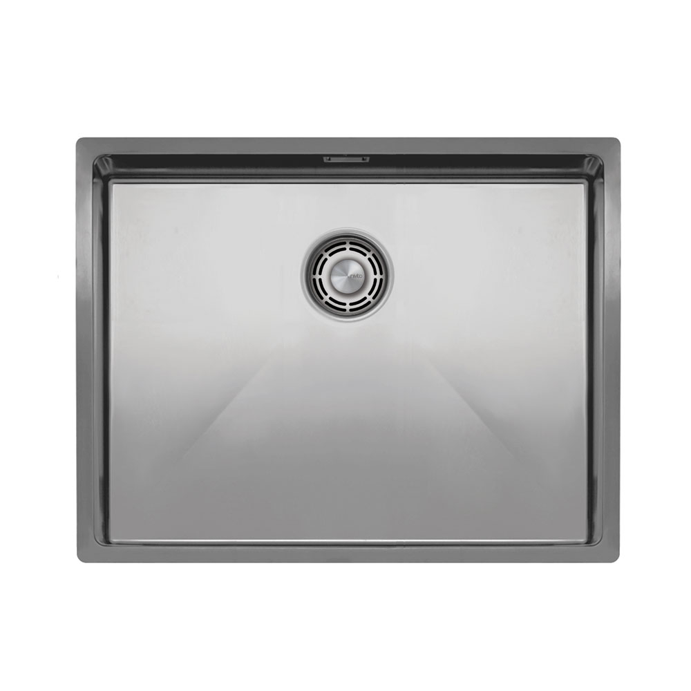 Nerjaveče Jeklo Kuhinjska Umivalnik Za Obraz - Nivito CU-550-B Brushed Steel Strainer ∕ Waste Kit Color