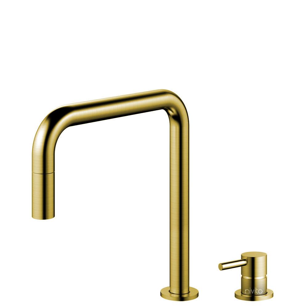 Zlato/Medenina Kuhinjska Pipa Izvlekljiva cev / Ločeno telo/pipa - Nivito RH-340-VI