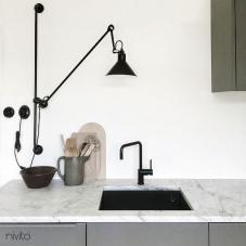 Črna Kuhinjska Pipa - Nivito 16-RH-320