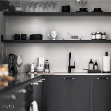 Črna Kuhinjska Pipa - Nivito 21-RH-320