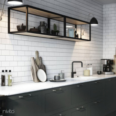 Črna Kuhinjska Pipa - Nivito 22-RH-320