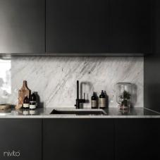 Črna Kuhinjska Pipa - Nivito 8-RH-320
