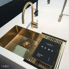 Zlato/Medenina Kuhinjska Umivalnik - Nivito 1-CU-500-180-BB