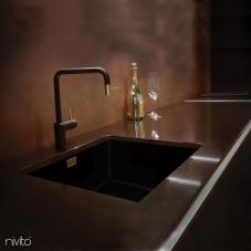 Zlato/Medenina Kuhinjska Pipa Črna/zlata/baker - Nivito 2-RH-340-BISTRO