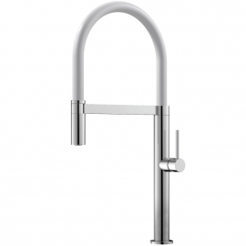 Kuhinjska Pipa Izvlekljiva cev / Polirano/bela - Nivito SH-310